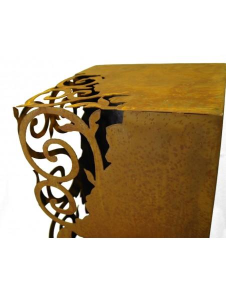 Rost Säule Venezia 1,4 m hoch 28 x 28 cm