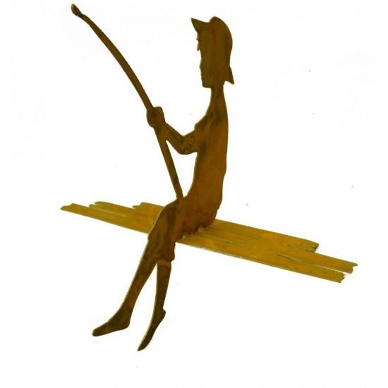 """Edelrost Angler """"Finn"""" 40 cm groß Kantenhocker"""