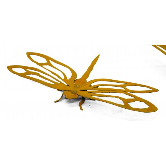 "Edelrost Libelle ""Dragonfly"" klein Rostige Gartendeko"