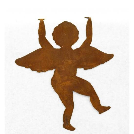 Engelfiguren kaufen und Engel Bastel-Ideen Engelsputte zum Einhängen Edelrost, Höhe 20 cm (klein), Engel Putte kletternde Putte
