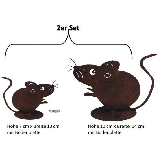 Rostige Maus Edelrost Metall Mäuse