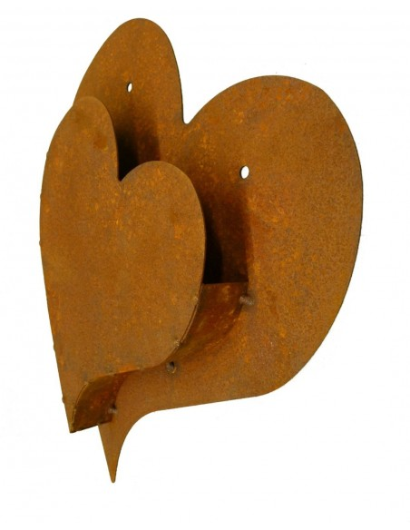 Rost Herz -Lissi- zum Hängen oder Festschrauben