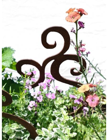 Dekostecker Edelrost Swirl 3er Set für Blumentöpe