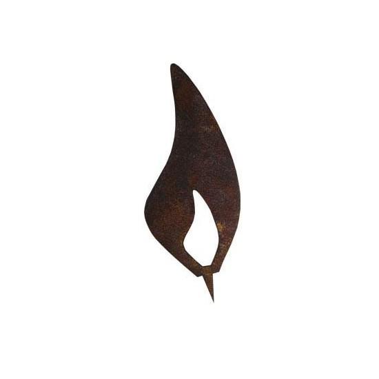 Winterliche Dekoration Flamme aus Edelrost gefertigt