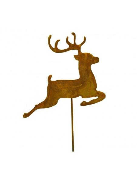 rostiges Rentier 20 cm Ministecker Gartenstecker Rentierstecker