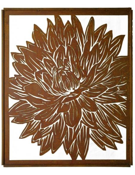 Dahlien Paravent klein 120 x 100 cm