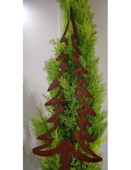 Rost Tannenbaum Stecker innen offen 50 cm hoch