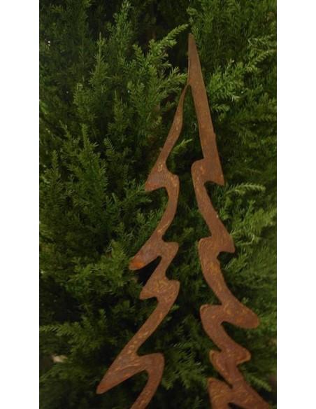 Edelrost Tannenbaum offen 50 cm hoch auf Platte