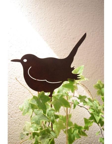 Rost Vogel / Spatz Stecker mit 35 cm Stab