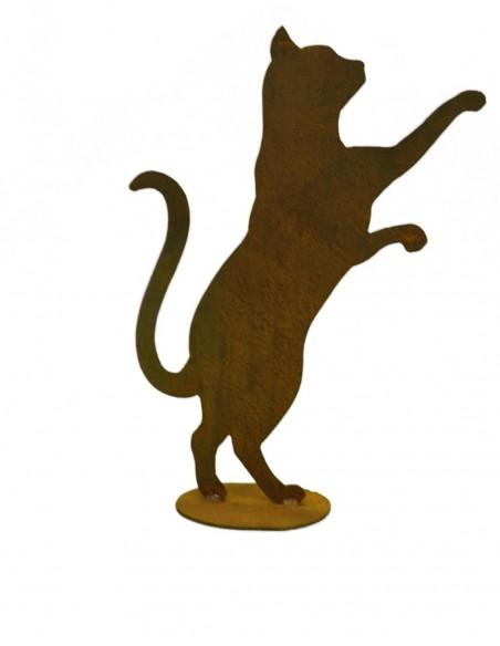 neugierige Minikatze auf Platte 23 cm hoch