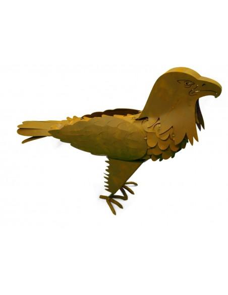 Edelrost Adler 3D 60cm hoch Dekoadler