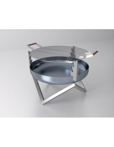 SvenskaV Grill-Aufsatz für Feuerschalen 63 cm Ø