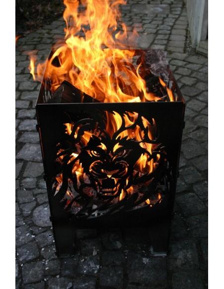 SvenskaV Feuerkorb L Löwe 47 cm hoch