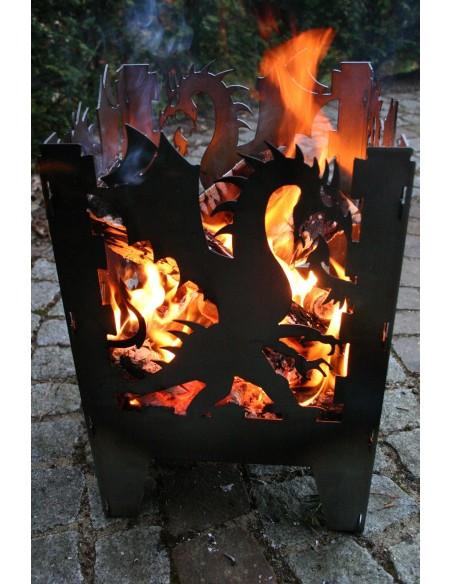 SvenskaV Feuerkorb L Drache 47 cm hoch