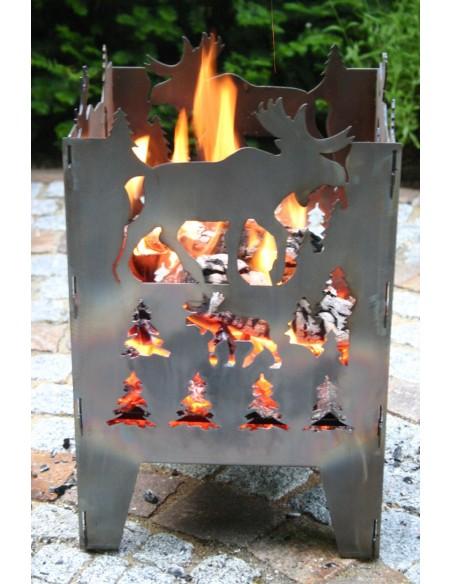 SvenskaV Feuerkorb L Elch 47 cm hoch