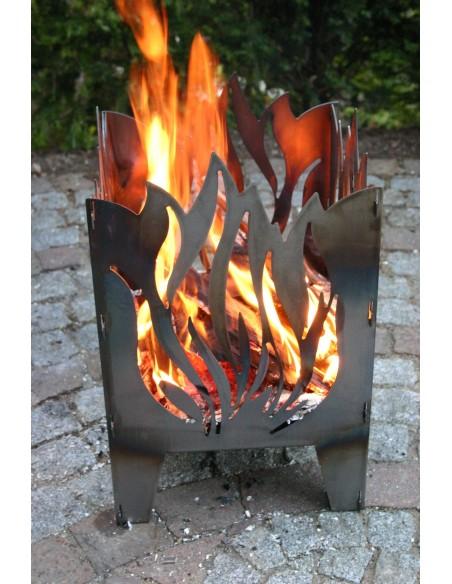 SvenskaV Feuerkorb L Flamme 47 cm hoch