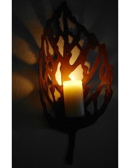 Vechio Blatt Lichthalter für Wandbefestigung klein