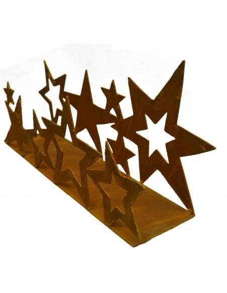 Metall Sternenband doppelt auf Platte 40 cm breit