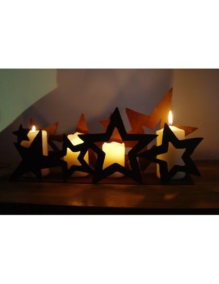 rostiges Sternenband doppelt auf Platte 40 cm breit