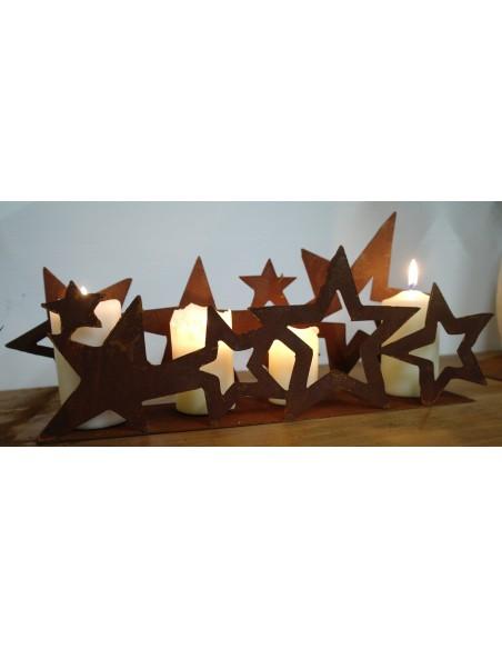 Sternenband doppelt auf Platte 40 cm breit