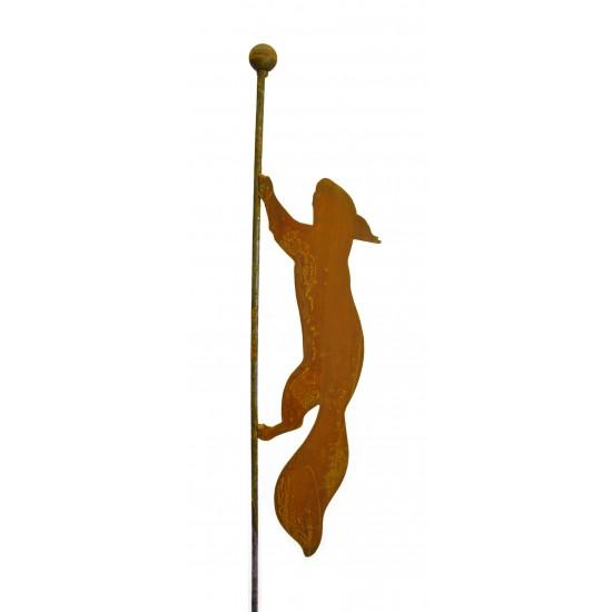 laufendes Eichhörnchen Gartenstecker 119 cm hoch