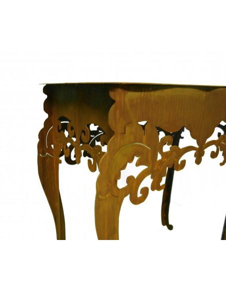 """Tisch """"Barock"""" hoch, H 97 cm, B 71 cm, T 40 cm Saremo"""