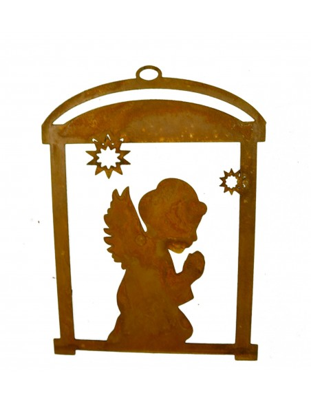 Rostiges Engel Fensterbild -Resa- 20 cm hoch