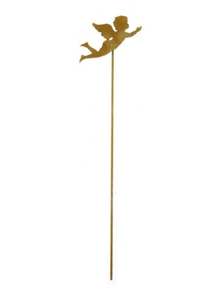 fliegendes Engelchen aus Roststahl 20 cm groß auf 60 cm Stab