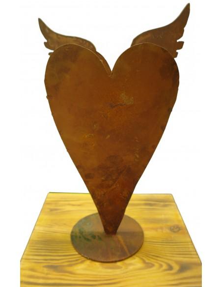 Herz HS1 mit Flügeln, auf Platte