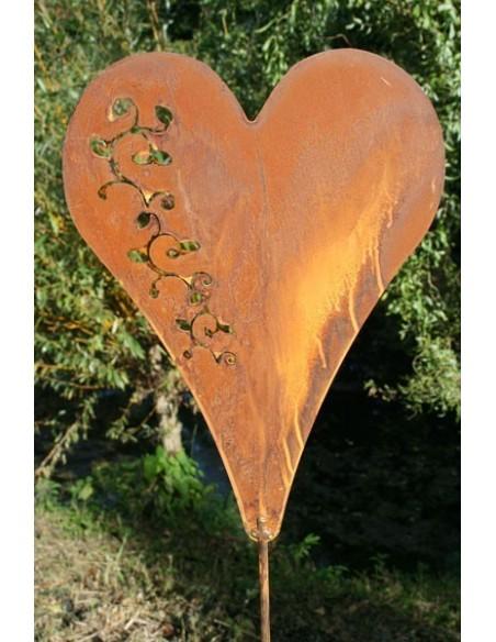 Herzstecker Rostiger Gartenstecker Dekostecker Herz