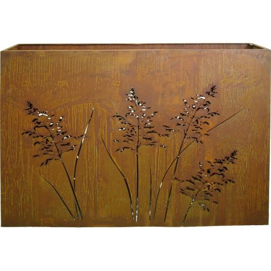 Gras Raumteiler 120 cm breit mit Ausschnitten auf beiden Seiten H 100 cm T 20 cm