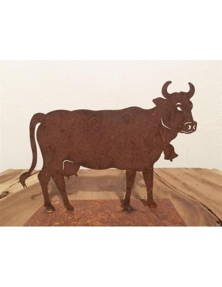 Kuh klein 30 x 20 cm auf Platte Pfaudler und Riemenschneider