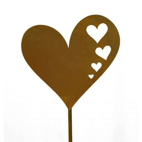 Herzstecker 1 Herz mit Herzauschnitten 1 m lang