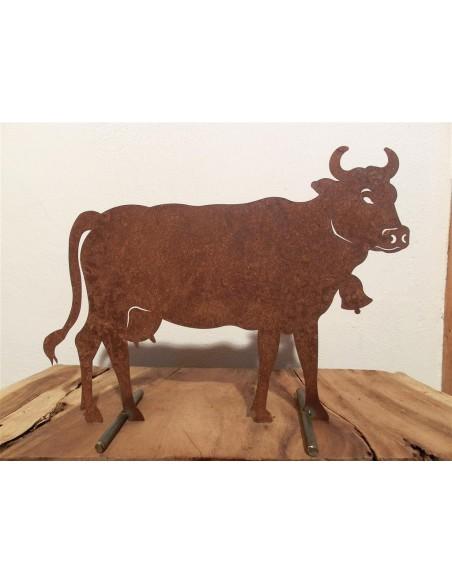 Kuh mittel 50 x 37 cm auf Platte Pfaudler und Riemenschneider