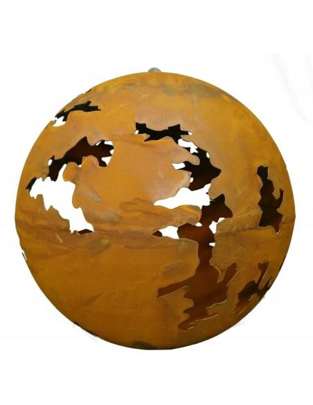 Risskugel mit Platte innen, zum Aufhängen KG d 40cm