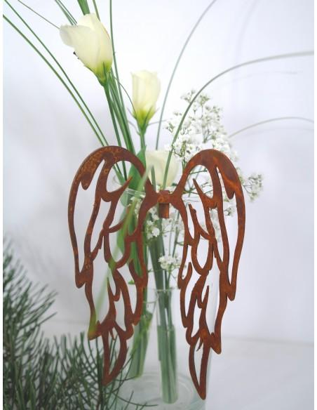 edle Rost Flügel filigran, zum Einhängen H 15cm