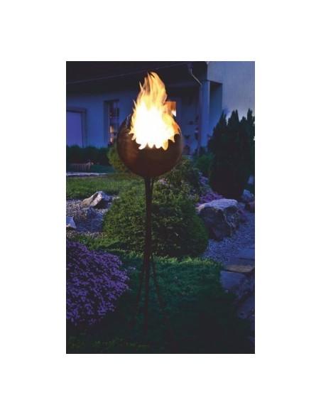 Edelrost Feuerkugel Ø 30 cm inkl. Ständer