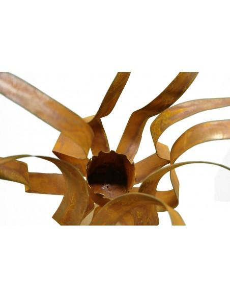 """Edelrost Feuerblume """"Fiamma"""" auf Stab, für BG1, H ca.40 cm, Stab 100 cm Saremo"""