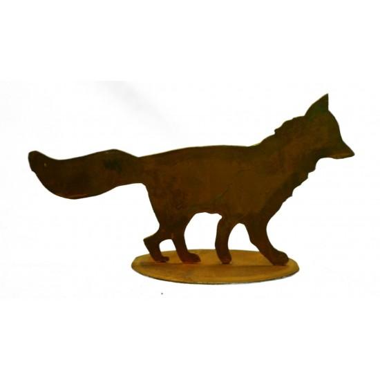 Mini Edelrost Fuchs laufend auf Platte