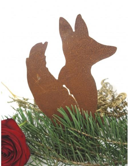 kleiner Rostiger Fuchs sitzend Höhe 22 cm