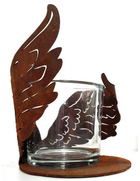 Flügelchen halbrund gebogen auf Platte groß Ø 16 cm