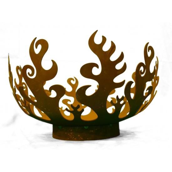 runde Feuerschalen Feuerschale - Flame - XXL - Ø 63 cm Edelrost Feuerkorb stabil und robust für Holzfeuer geeignet Die Feuerscha