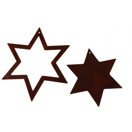 2 tlg. Sternenset -6 Zacken-