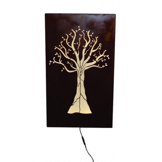 Wandbild Baum -Nova- mit LED