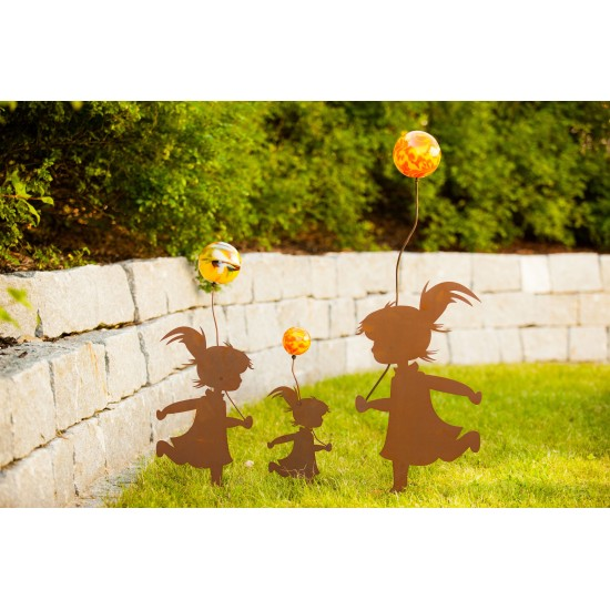 Mädchen mit Luftballon inkl. Glaskugel Gr. III