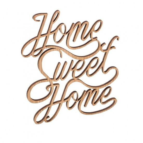 """Dekoschriftzug """"Home Sweet Home"""" 20 x 23 cm"""