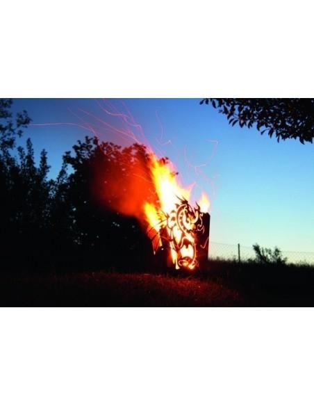 Feuerkorb Drache rechteckig
