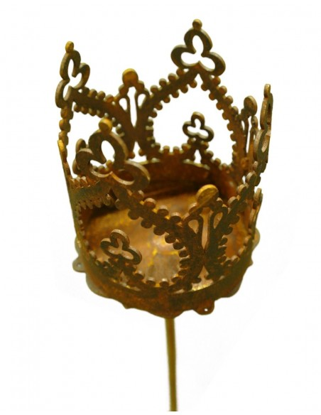 """""""Crown"""" Krönchen zum Stecken d 9cm, h 10cm, Stab 80cm"""