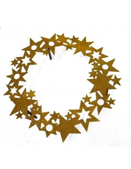 rostiger SternenRing für Reagenzgläser - weihnachtliche Dekoidee mit Reagenzgläser