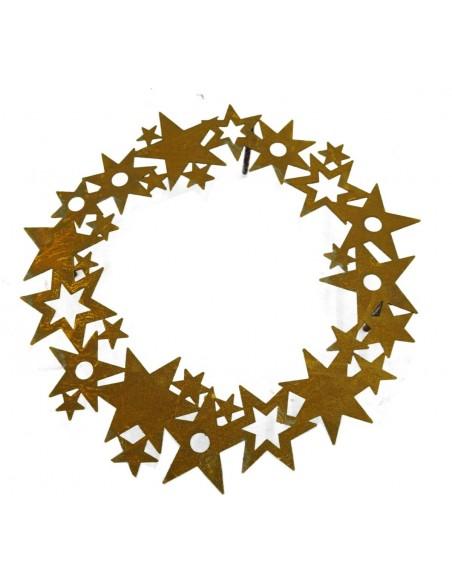 Rost Metall Sternenring Reagenzglashalter groß Ø 40cm inkl. Reagenzgläser von saremo